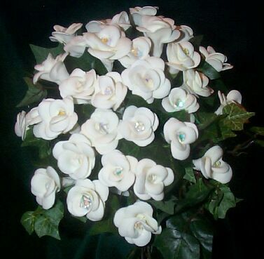Wedding Flowers #1 - WHite Roses and Ivy