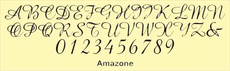 amazone font for cake toppers
