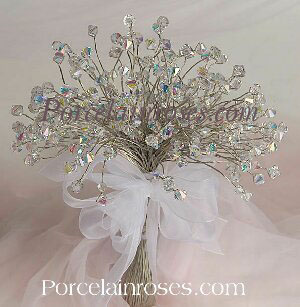 Hand tied crystal bouquet