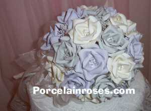 Lavener, Silver and white rose bouquet