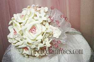 Bridal Bouquet with Swarovski crystal stems