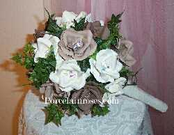 Rose Bouquet in shades of Brown