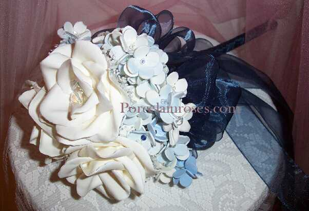 Navy Blue Wedding Bouquet