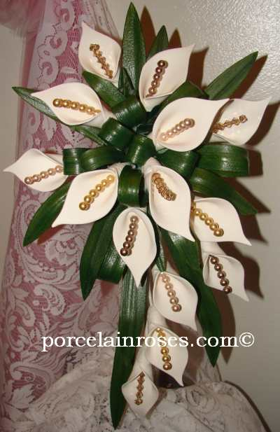 Medium Calla Lily Cascade bouquet