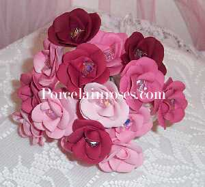 Assorted Wedding Flowers in Shades of Red