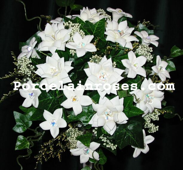 White Garden Rose Wedding Flowers #61