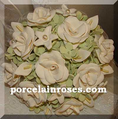 Ivory & Green Wedding Flowers