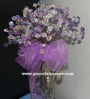 Crystal Lilac Bouquet
