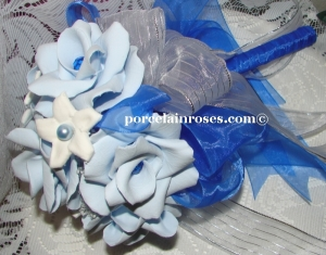 Light Blue Roses with Capri Crystals