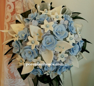 Wedding Bouquet in blue